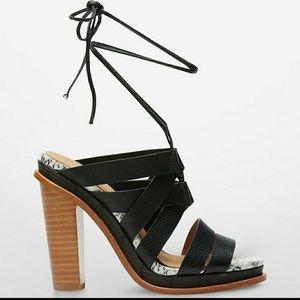 Calvin Klein panelope heels lace up open toe
